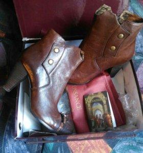 Итальянские новые кожаные ботинки