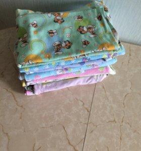 Продам детские пеленки 10 шт в отличном состоянии