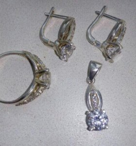 Копмлект из серебра 925 пробы