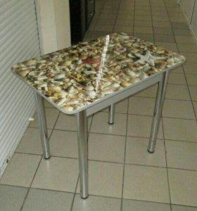 Стол для кухни ( ракушки ) новый со склада.