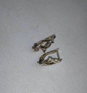 Серьги серебро 925 пробы.
