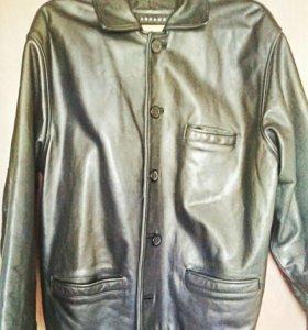 Кожанная куртка мужская хорошее состоянии ТОРГ