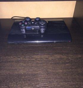 PS3 500gb super slim с дисками (15шт)