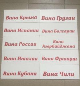 Таблички на витрину