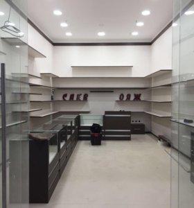 Торговое оборудование-мебель ( прилавки, стелажи)