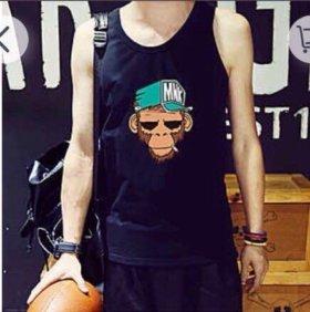 Чёрная майка футболка кофта mnk 🐒
