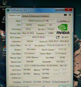Видеокарта GeForce gt740