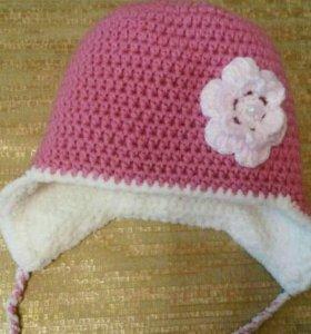 Зимняя шапочка для девочки!!!