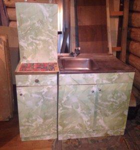 Кухонный гарнитур для дачи. 6 шкафов