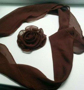 Платок с розой