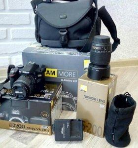 Фотоаппарат Nikon d3200 Kit 18-55mm VR II + 55-200