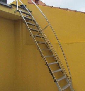 Лестница ограждение на второй этаж
