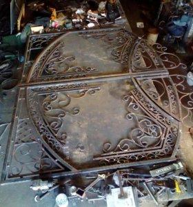 Ворота кованые вручную