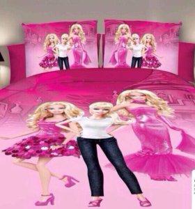 """Детское постельное белье для девочек """"Барби"""""""