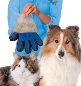 Перчатка для вычёсывается питомцев