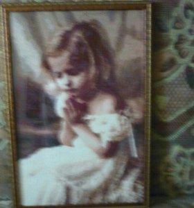 #Девочка#вышивка#Картина