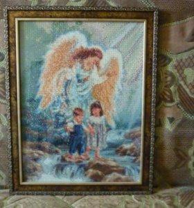 #Ангел_с_детьми#Алмазная#мозаика#вышивка#Картина