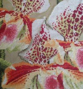 Вышивка орхидея