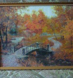 #Осень#Алмазная#мозаика#вышивка#Картина