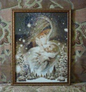 #Мадонна_с_младенцем#Алмазная#мозаика#Картина
