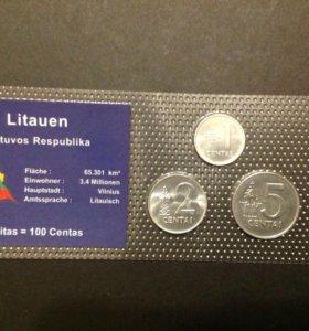 Монеты набор Литва UNC