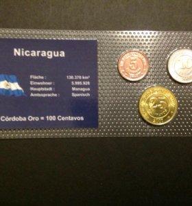 Монеты набор Никарагуа , UNC
