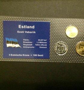 Монеты набор Эстония, UNC