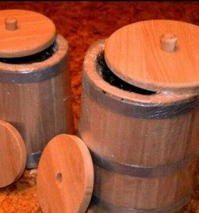 Кадки и бочки для соления из дуба