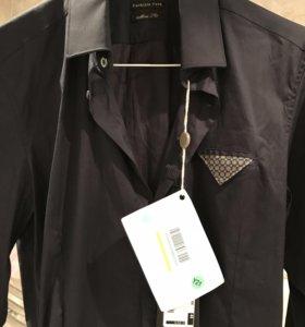 Рубашка чёрная новая Patrizia Pepe