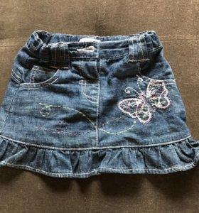 Юбка джинсовая 12-18