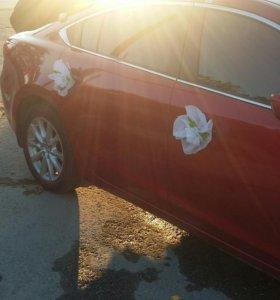 украшение для машины свадебное