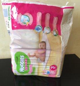 Huggies (хаггис) трусики для девочек 7-11 кг.