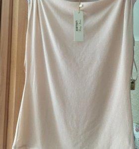 Блузка нежно розовая, топ под пиджак 48-50