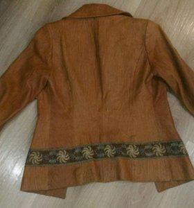 Пиджак из натуральной кожи