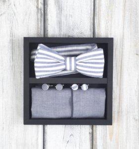 Набор #14 (галстук-бабочка, платок, запонки)