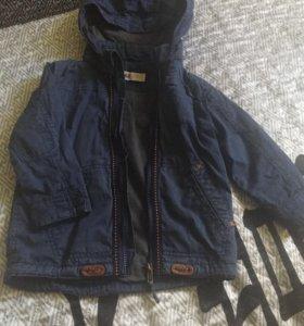 Куртка на мальчика 2-3года