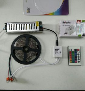 Светодиодная лента цветная (LED RGB) комплект