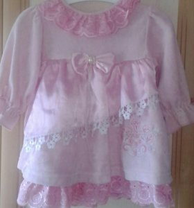 Набор: платье, пинетки и чепчик