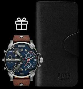 часы Disel Bravo + клатчи