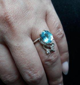 Кольцо серебро 17р