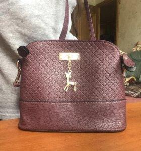 Новая сумка фиолетовая