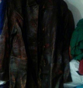 Пиджак кожаный женский
