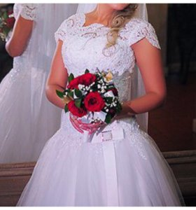 Свадебное платье, белоснежное