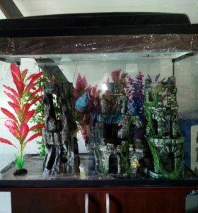 Новый 140 литровый аквариум.