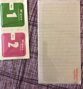 Защитное стекло для iphone 6/7,кабель и наушники