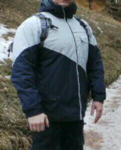 Куртка мужская горнолыжная с капюшоном