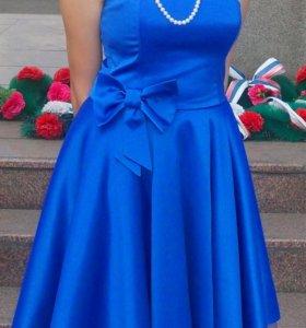 Вечернее платье. Синее.