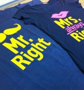 Печать на цветные футболки