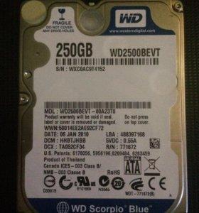 Жёсткий диск Western Digital для ноутбука