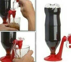 Подставка-диспенсер для газированных напитков.